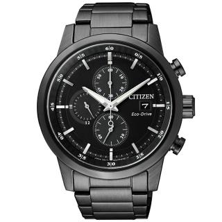 【CITIZEN 星辰】亞洲限定光動能三眼計時手錶(CA0615-59E)