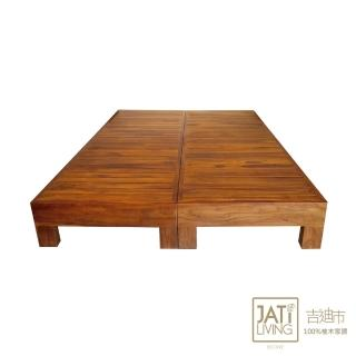 【吉迪市柚木家具】柚木全板面床架組