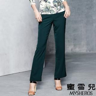【mysheros 蜜雪兒】西裝直筒微喇叭長褲(綠)