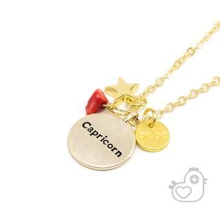 【彩糖鑽工坊】彩糖貝貝 1月星座 紅瑪瑙項鍊 生日石項鍊(親子 閨蜜 彩糖貝貝系列)