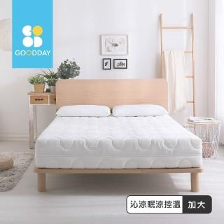 【GOODDAY】沁涼眠-五段式乳膠獨立筒床墊(雙人加大-180x186cm)