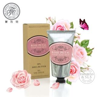 【Somerset 賽玫特】英國自然歐洲乳油木護手霜75ml-玫瑰花瓣