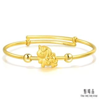 【點睛品】獨角獸 彌月黃金手環_計價黃金