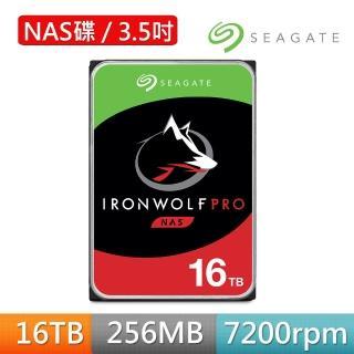 【SEAGATE 希捷】那嘶狼 IronWolf Pro 16TB 3.5吋 7200轉 NAS硬碟 含3年資料救援(ST16000NE000)
