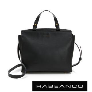 【RABEANCO】LYLA時尚真皮手提肩背包-大(黑)
