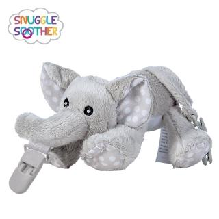 【Snuggle】安撫絨毛玩偶娃娃(奶嘴夾-小灰象)