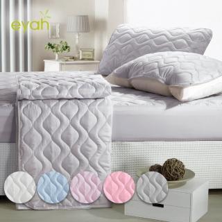 【eyah 宜雅】買一送一 台灣製純色加厚舖棉保潔墊平單式 多色任選(單人/雙人/加大)