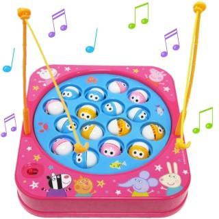 【TDL】粉紅豬小妹佩佩豬音樂釣魚玩具組 012387