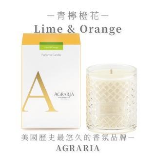 【AGRARIA美國天然香氛】青檸橙花香氛大蠟燭198g(香氛蠟燭 大豆蠟燭)