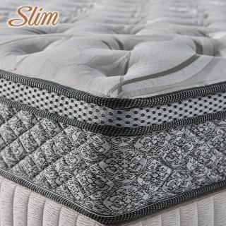 【SLIM奢華型】天絲乳膠記憶膠防蹣獨立筒床墊(雙人5尺)