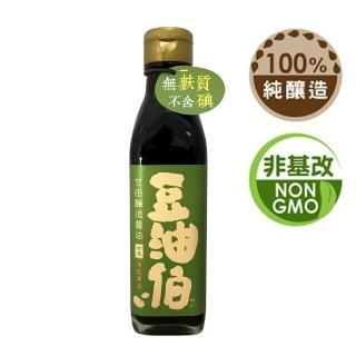 【豆油伯】甘田薄鹽釀造醬油200ml(薄鹽無添加糖非基改)