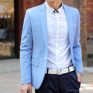 【米蘭精品】西裝外套(韓版修身時尚商務男外套59t1)