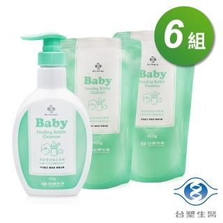 【Dr. Formula 台塑生醫】嬰幼童奶瓶洗潔劑 500g X1瓶  補充包400g X 2包 共6組