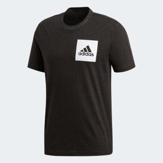 【adidas 愛迪達】Adidas ESS Box Logo Tee    男 圓領 短袖 運動 休閒 舒適 棉T 愛迪達 黑(BS4861)
