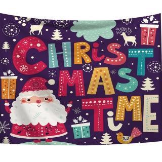 【半島良品】贈星星燈-聖誕老人/北歐掛布掛毯(掛毯 掛畫 沙灘巾 牆面布 背景布 沙發巾 ins 裝飾掛布掛毯)