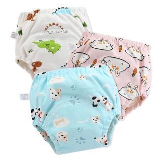【JoyNa】6件入-學習褲 6層紗嬰兒尿布褲 可調式隔尿褲