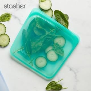 【美國Stasher】白金矽膠密封袋-方形(碧綠)