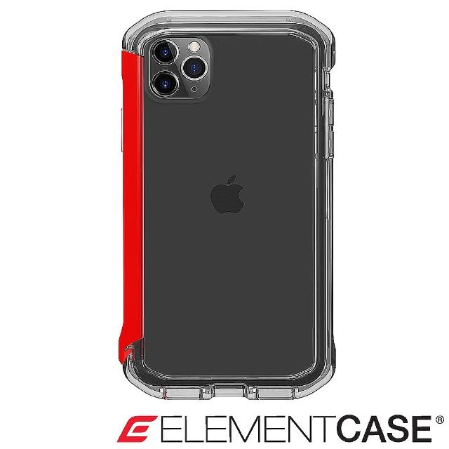 【Element Case】iPhone 11 Pro Max Rail(神盾軍規殼 - 晶透紅)