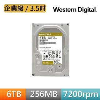 【WD 威騰】金標 6TB 企業級 3.5吋 SATA硬碟(WD6003FRYZ)