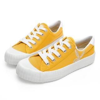 【PLAYBOY】彩糖精靈 電繡兔頭帆布鞋-黃-Y5706BB