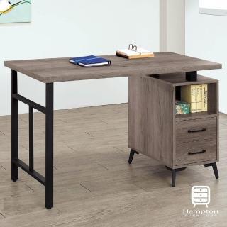 【Hampton 漢汀堡】瑞伊系列古橡木色4尺書桌(一般地區免運費/書桌/桌子)