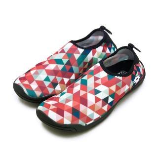 【LOTTO】女 多用途戶外休閒運動溯溪機能水鞋 AQUWEAR系列(幾何橘 0972 附收納袋)