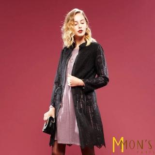 【MON'S】長版蕾絲造型外套/罩衫