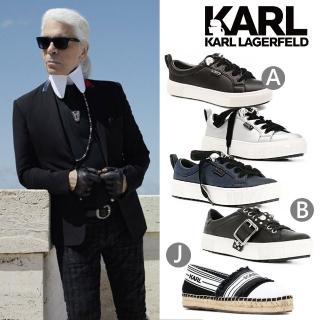 【KARL LAGERFELD 卡爾】KUPSOLE Q版樂福鞋-黑(原廠公司貨)