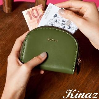 【KINAZ】驚喜圓滑貼心分層零錢包-芥藍綠元素-小物魔法系列
