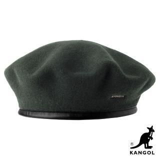 【KANGOL】WOOL MONTY貝蕾帽(墨綠色)