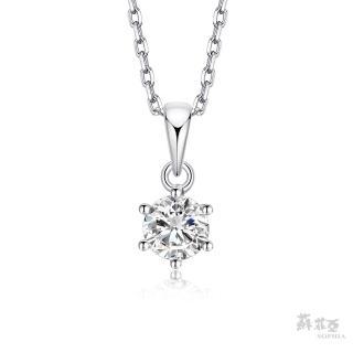 【蘇菲亞珠寶】經典六爪0.30克拉FVVS1 3EX鑽石項鍊(蘇菲亞 18k K金 鑽石 項鍊)
