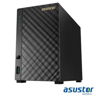 【TOSHIBA 8TB】2入組 NAS硬碟(HDWN180AZSTA)+【ASUSTOR】AS3102T 2Bay NAS網路儲存伺服器