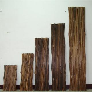 【沃克嚴選】燻木伸縮籬笆H95 95X25X1.3cm 6入