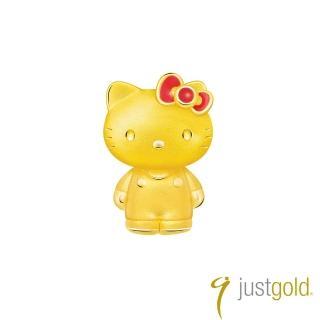 【Just Gold 鎮金店】Lovely Memories純金系列 黃金單耳耳環-Kitty