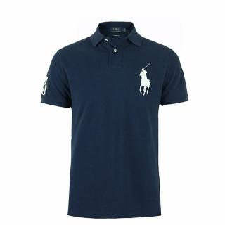 【RALPH LAUREN】Polo Ralph Lauren 經典電繡大馬Polo衫-Custom-深藍色