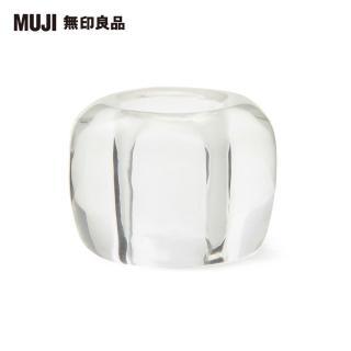 【MUJI 無印良品】透明玻璃牙刷架/1支用