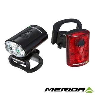 【MERIDA 美利達】USB前後車燈組(車燈/前燈/後燈/尾燈/照明/單車/自行車)