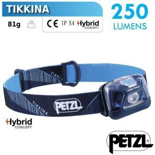 【PETZL】TIKKINA 超輕量戶外頭燈/250流明.IPX4防水.LED頭燈(E091DA02 藍)