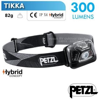 【PETZL】TIKKA 超輕量省電頭燈/300流明.IPX4防水.LED頭燈(E093FA00 黑)