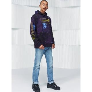 【LEVIS】X 星際大戰限量聯名 男款 上寬下窄 / 501 Taper 排釦牛仔褲 / 淺藍刷白(經典時尚)