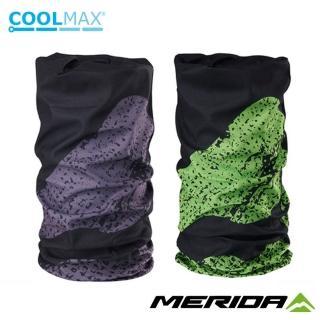 【MERIDA 美利達】Coolmax頭巾 山圖騰款(圍脖/路跑/防曬/防風/單車/自行車)
