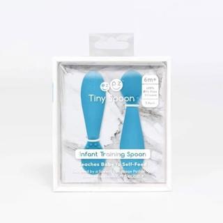 【美國ezpz】tiny spoon迷你湯匙: 寶石藍(2入裝 FDA認證矽膠)