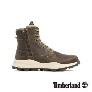 【Timberland】男款橄欖色全粒面革側拉鍊靴(A2726901)