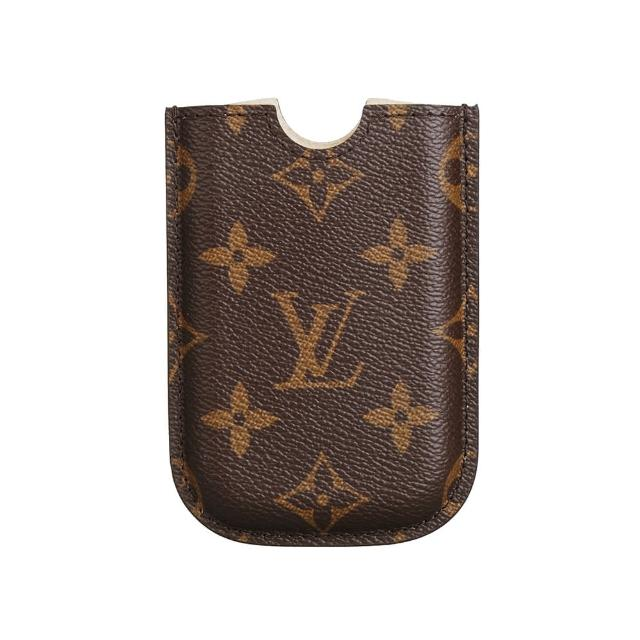 【Louis Vuitton 路易威登】LV Outlet M40557 經典monogram Blackberry手機套(咖啡)