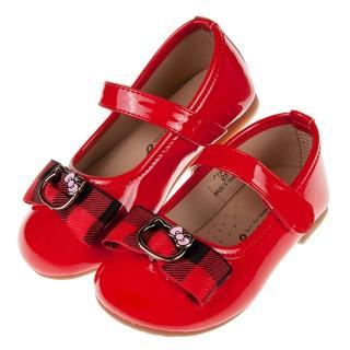 【布布童鞋】HelloKitty凱蒂貓英倫紅色蝴蝶結兒童公主鞋(C9W828A)