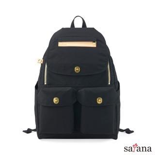 【satana】Soldier 多功能拉鍊後背包(黑色)