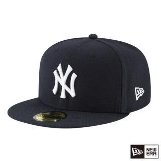 【NEW ERA】59FIFTY 5950 MLB 球員帽 洋基 客場 棒球帽(海軍藍)