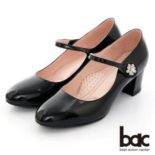 【bac】璀璨閃耀-波浪邊水鑽點綴高跟鞋(黑色)
