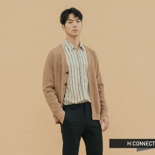 【H:CONNECT】韓國品牌 男裝 -V領排扣口袋外套(棕色)