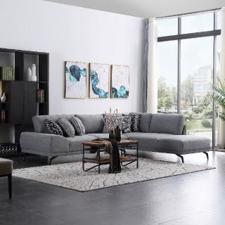 【FL 滿屋生活】FL Ares 阿瑞斯 - 時尚造型L型布面沙發(L型沙發/實木沙發/布沙發/熱銷款/經典款)